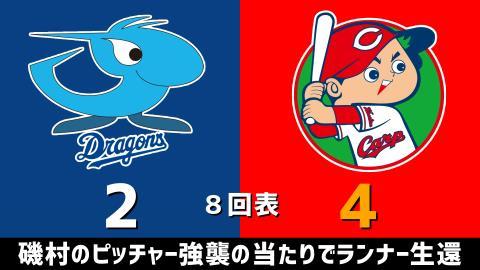 4月18日(日) セ・リーグ公式戦「中日vs.広島」【試合結果、打席結果】 中日、2-4で敗戦…一時はリードを奪うも逆転負け…