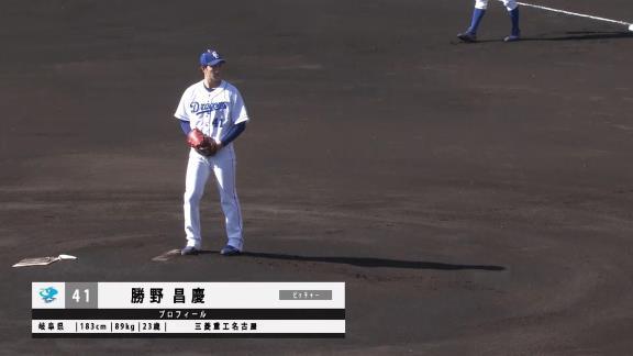 中日・勝野昌慶、自己採点は0点…6回2失点の力投見せるも課題克服できず【投球結果】