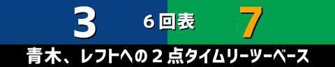 7月2日(金) セ・リーグ公式戦「中日vs.ヤクルト」【試合結果、打席結果】 中日、3-9で敗戦… 序盤から毎回失点を許し、中盤に一気に突き放される…