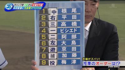 サンドラ解説者・井端弘和&赤星憲広、中日の開幕投手は大野雄大投手ではなく…『梅津晃大』