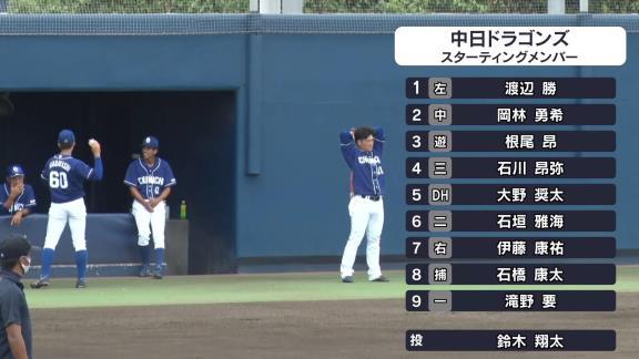 中日・石垣雅海、4打数4安打の大暴れでウエスタン・リーグ首位打者争い独走状態になる