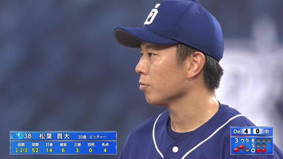 中日・松葉貴大「チームに申し訳ないです…」 与田監督「甘いボールをしっかり仕留められたという、うまく打たれたというのは、これはしょうがないので」【投球結果】