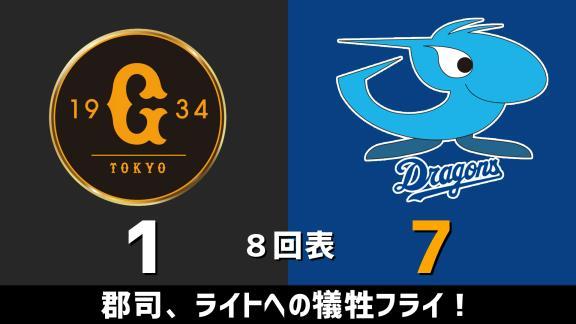 8月15日(土) セ・リーグ公式戦「巨人vs.中日」 スコア速報
