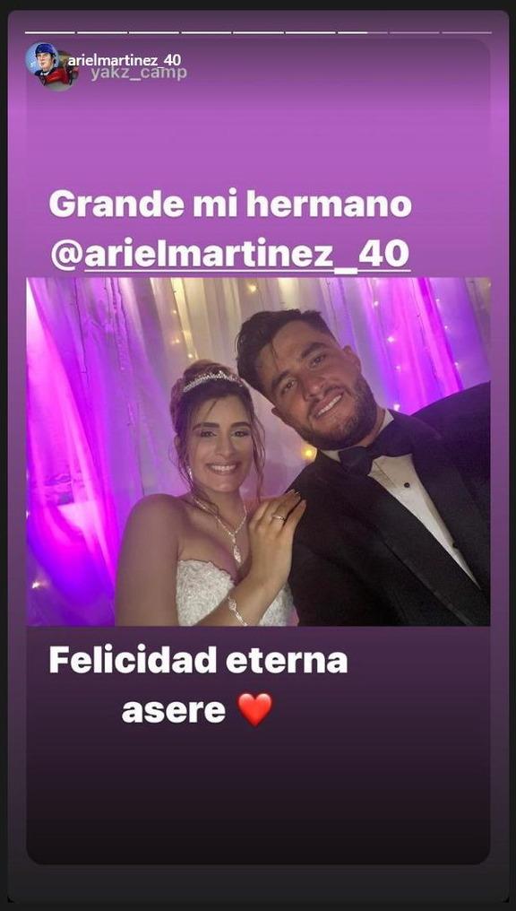 中日のアリエル・マルティネス、結婚式を挙げる