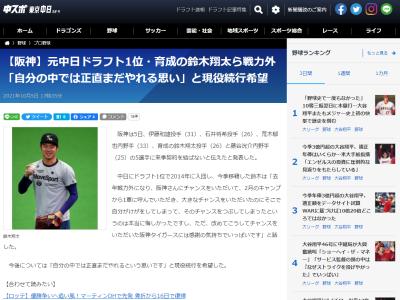 阪神から戦力外通告を受けた鈴木翔太投手「自分の中では正直まだやれるという思いです」
