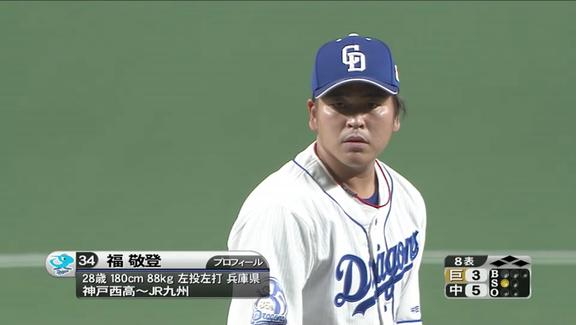 中日・福敬登投手がマウンドに上がる時にかかる登場曲が…?