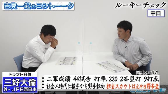 井端弘和さん「野本スカウトは勘違いしていない? 自分とそっくりなのを連れてくるとか、そういう感じで獲ってきてないかね(笑)」【動画】
