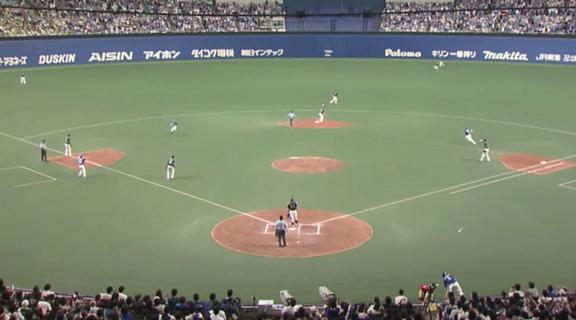 中日・大島洋平が見せた神走塁 一塁ランナーの三塁到達とほぼ同時に二塁到達…!?