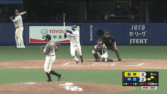 中日・高橋周平の逆転サヨナラ3ランホームラン、2020年プロ野球のホームランの中で最も速い球を打ち返しての一発だった