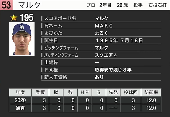 中日・石田健人マルクの独特な投球フォーム、『プロスピ2021』で再現される!【動画】