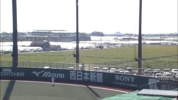 中日・石岡諒太、バンデンハーク撃ち! フルスイングでライトへのソロホームランを放つ!【動画】