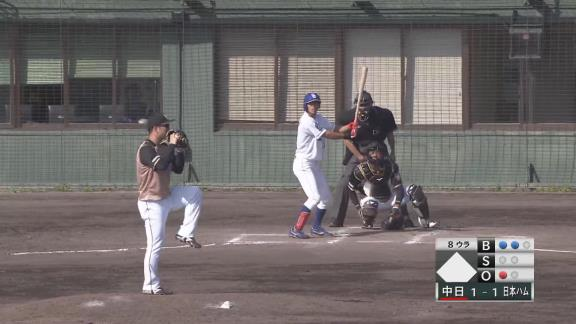中日・高松渡が見せた超快足!代打で登場しスリーベースヒットを放つ! 中村紀洋さん「速いなぁ~、足!」【動画】
