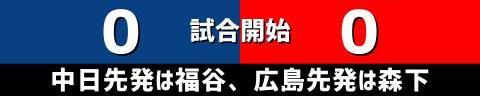 8月17日(火) セ・リーグ公式戦「中日vs.広島」【試合結果、打席結果】 中日、3-0で勝利! 前半戦から続いていた連敗を6で止める!!!
