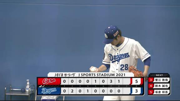 森博人投手の憧れ…元中日・中里篤史さん、バンテリンドームで中日ドラフト2位・森博人投手のデビュー登板を見ていた
