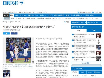 """中日・R.マルティネスが史上25人目のプロ野球タイ""""珍記録""""を達成!「野球の中ではあることだと思うよ(笑)」【投球結果】"""