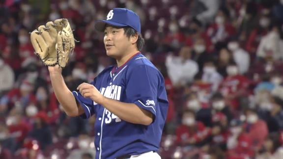 中日・又吉克樹広報、無失点リリーフを見せた福敬登投手の写真を投稿する!