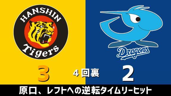 9月29日(火) セ・リーグ公式戦「阪神vs.中日」 スコア速報