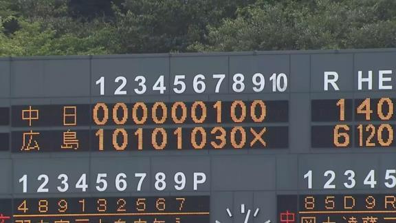 9月26日(日) ファーム公式戦「広島vs.中日」【試合結果、打席結果】 中日2軍、1-6で敗戦… 連敗を止められず、チームは7連敗に…