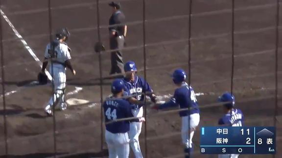 中日・福田永将、打った瞬間に球場全体が確信!完璧な満塁ホームランを放つ!!! 1試合で5打点の大暴れ!【打席結果】