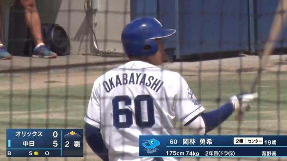 中日・岡林勇希「バッティングも大事ですけど、守備走塁面。球際に強くなれるように、これから練習していきたいと思います」