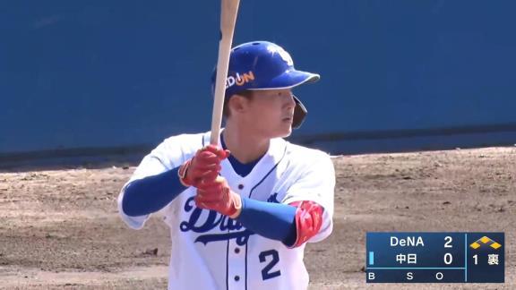 中日・石川昂弥「昨日ダメだったので今日取り返そうと思って頑張りました」 4打数2安打1打点の活躍!あと少しでホームランの打球も飛び出す!【打席結果】