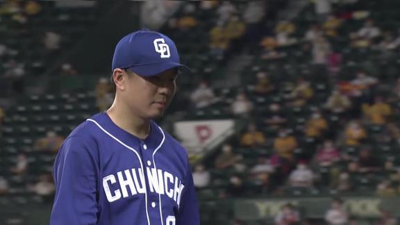 中日・大野雄大、今季5度目登板も白星ならず「青柳投手と比べると投球のリズムが悪く、それが攻撃のリズムを悪くしてしまったと思います…」【投球結果】