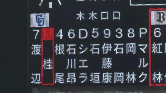 中日・桂依央利、2ヶ月ぶりに実戦復帰! キャッチャー守備から途中出場!