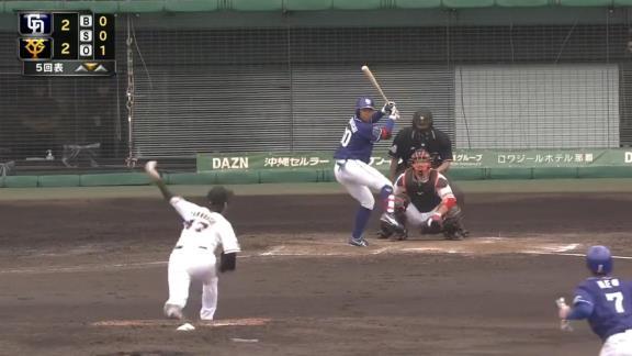 中日・岡林勇希選手の2安打1打点の活躍に与田監督「アウトになっても非常に惜しいアウトが多い。レベルアップはよりしたのかな」【打席結果】