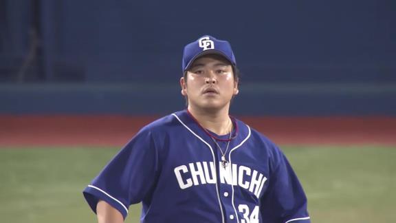 中日・又吉克樹広報、今シーズン5勝目を挙げた福敬登投手の写真を投稿する!