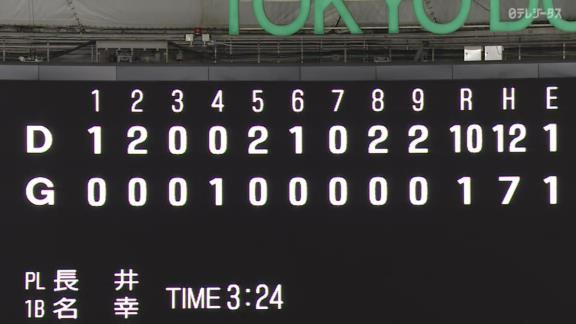 アリエル・マルティネス、中日ドラフト3位・土田龍空のプロ初打点記念ボールを試合中大切に持ち続ける