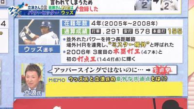 立浪和義さん、タイロン・ウッズについて語る「ホームランの打球が本当に打った瞬間どこの方向にも…」