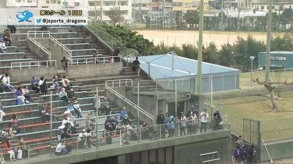 中日・高橋周平、ファウルフライを追いすぎてどこかに消える【動画】