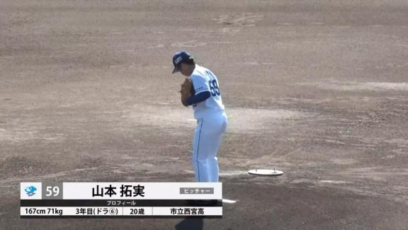 中日・山本拓実「オフへ、きっかけが掴めた登板だったと思います」 今季最終登板で好投を見せる!【投球結果】