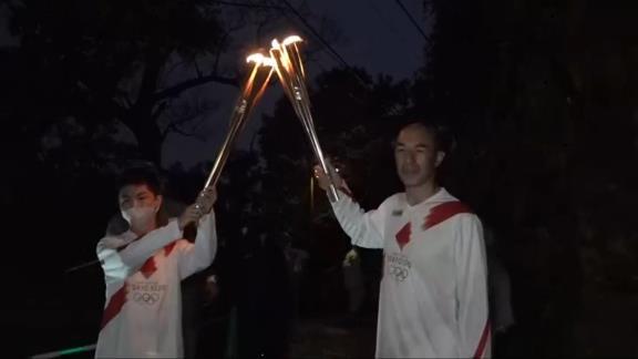 和田一浩さん、聖火ランナーを務める