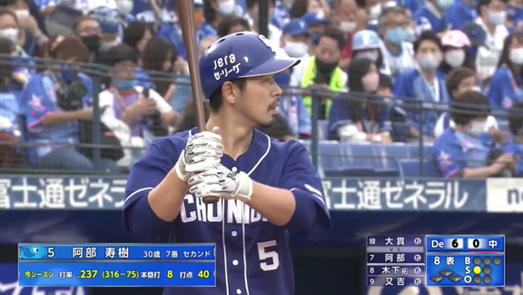中日・阿部寿樹「悔しい打席があったので…」 自身初の2桁本塁打王手!第9号ソロホームランを放つ!【動画】