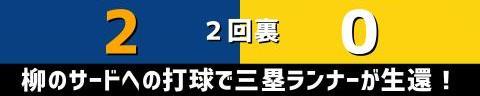 8月20日(金) セ・リーグ公式戦「中日vs.阪神」【試合結果、打席結果】 中日、6-0で勝利! 柳裕也が圧巻の完封勝利!!!