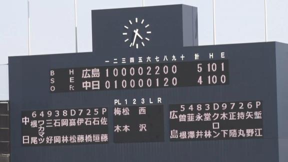 7月30日(金) ファーム公式戦「中日vs.広島」【試合結果、打席結果】 中日2軍、4-5で敗戦… 1点差まで追い上げるも、あと一歩及ばず…