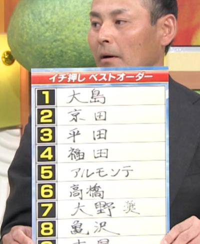 川上憲伸さんによる中日開幕オーダー予想 ポイントは6番・京田陽太! 多村仁志さん「僕は強いと思います」