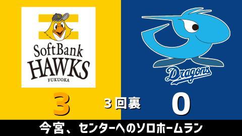 3月3日(水) オープン戦「ソフトバンクvs.中日」【試合結果、打席結果】 中日、オープン戦2戦目は1-4で敗戦…