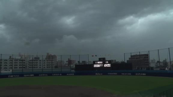 7月12日(月) ファーム公式戦「中日vs.ソフトバンク」【試合結果、打席結果】 中日2軍、0-4で敗戦… 激しい雨風と雷で降雨コールド負け…