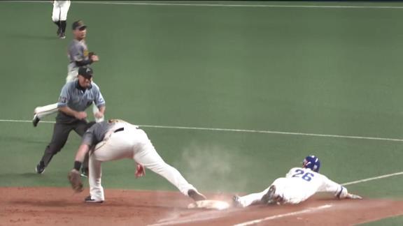 中日・井領雅貴、執念のヘッドスライディング決勝打でプロ初お立ち台!「仲間の投手もずっと頑張ってくれていたし、今日は西投手にやられっ放しだったので何とかしたかった。うれしいです」