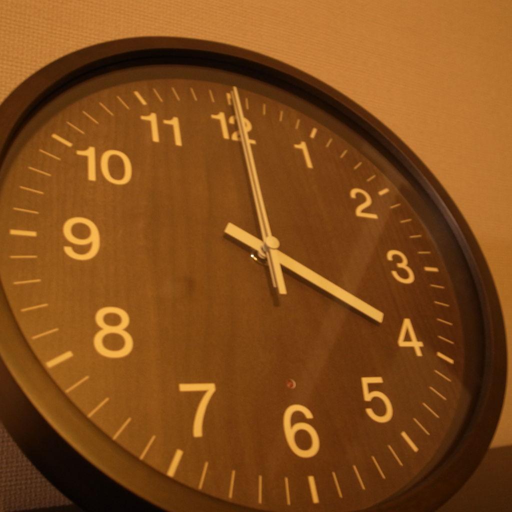 レムノス 掛け時計 Clock A/B(クロックA/B)ナチュラル ブラック【送料