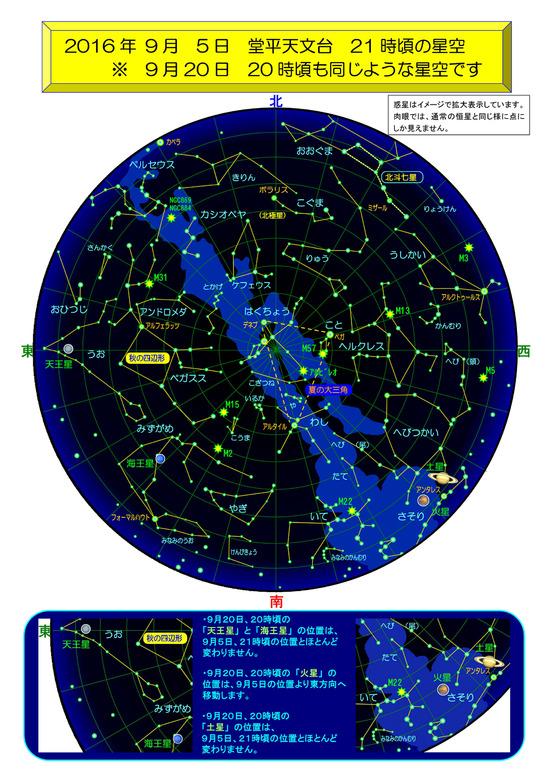 堂平天文台 9月の星空