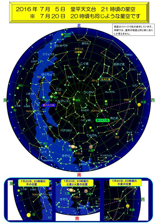 堂平天文台 7月の星空