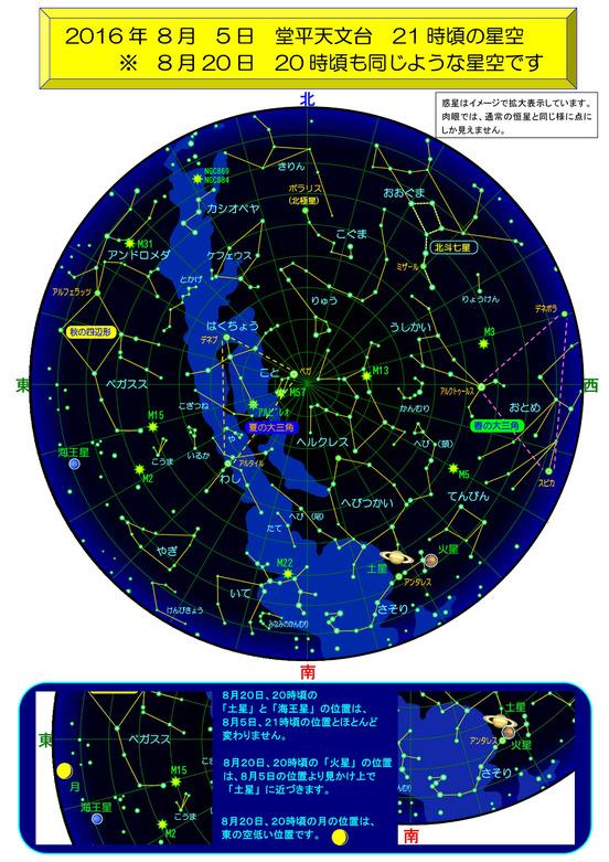 堂平天文台 8月の星空
