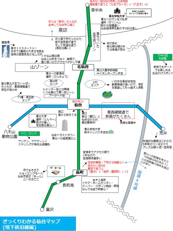 【画像あり】初心者でもざっくり分かる仙台マップが作られる