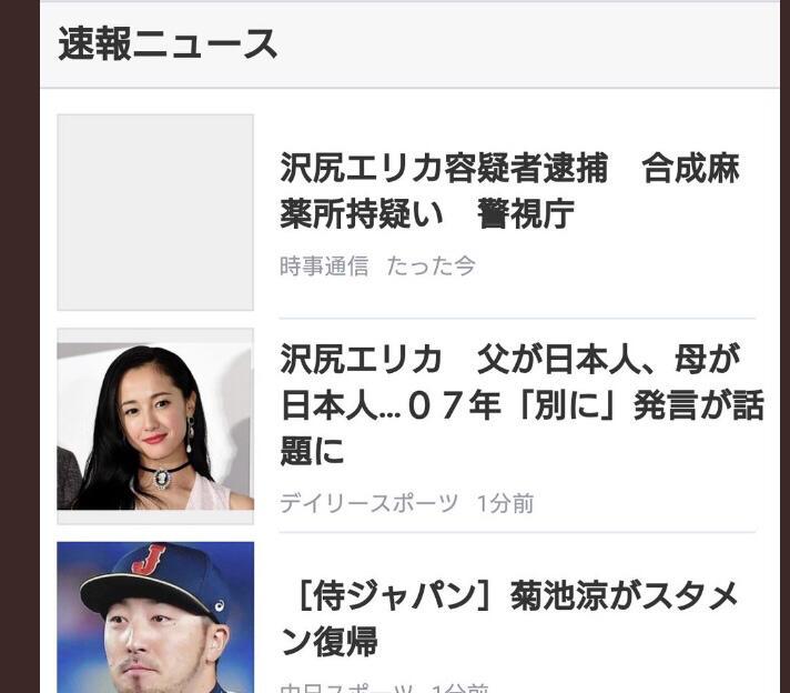 悲報】 沢尻エリカの父は日本人、母は日本人だった模様