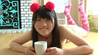 黒髪美少女 春日彩香ちゃんのプリケツ満載イメージビデオ!