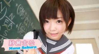 【紗倉まな】唯一の女子クラスメイトはFカップ巨乳美少女!皆で仲良くたらい回してハメハメ★