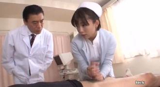 美少女ナースのマンコフル活用インポ治療で完治確認!